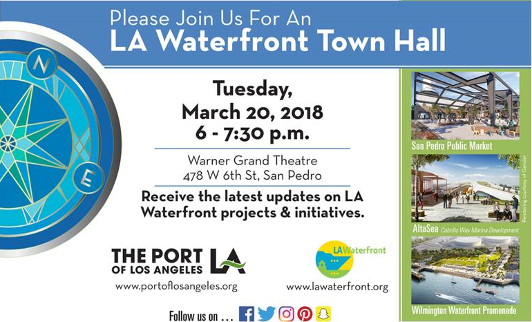 LA Waterfront Town Hall 03-20-18