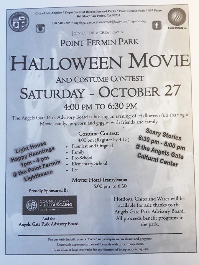 halloween movie and costume contest pt fermin park san pedro calendar
