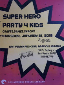 Super Hero Library Party