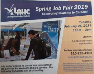 L A Harbor College Job Fair-2-26-19