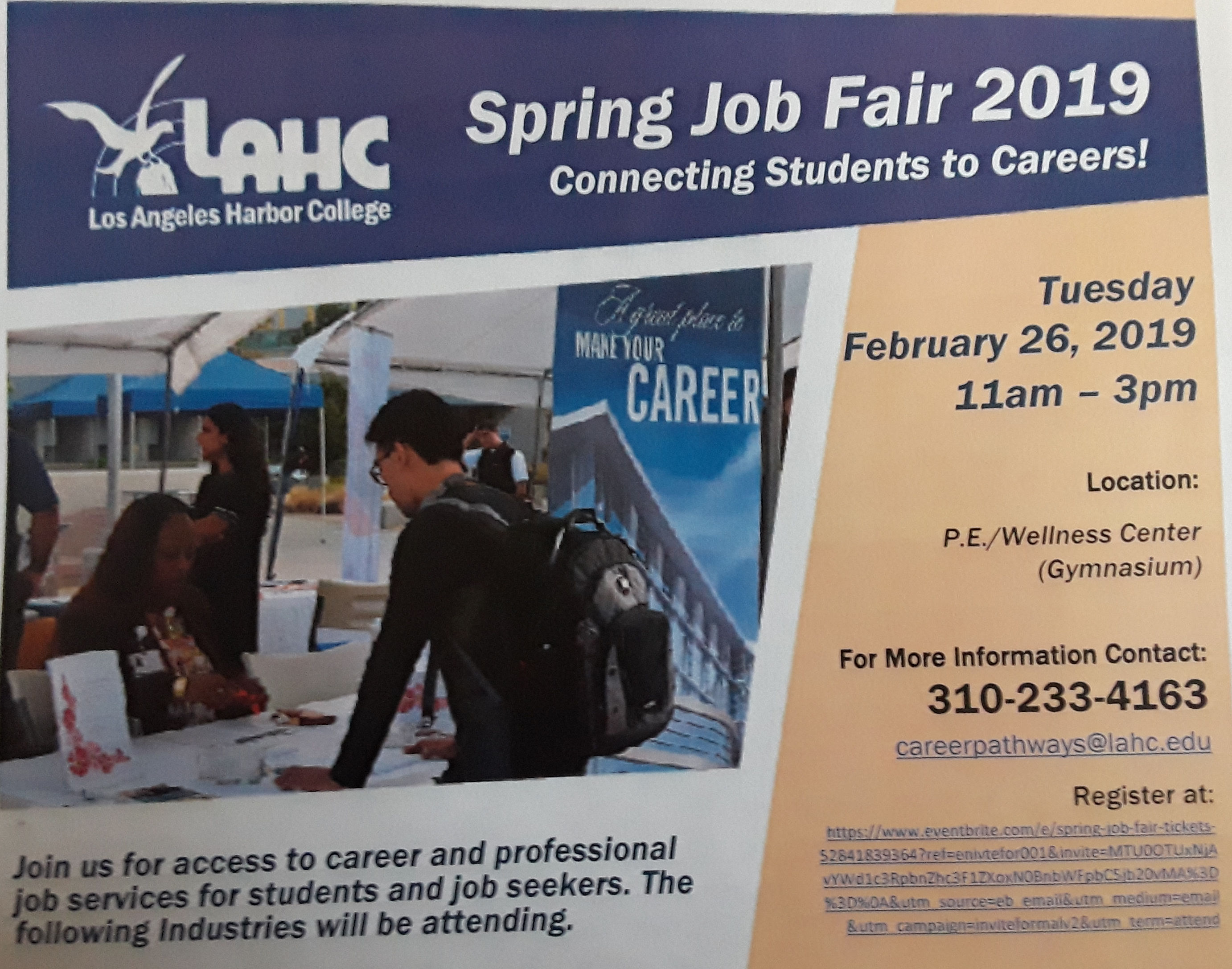 L A Harbor College Job Fair-2-26-19