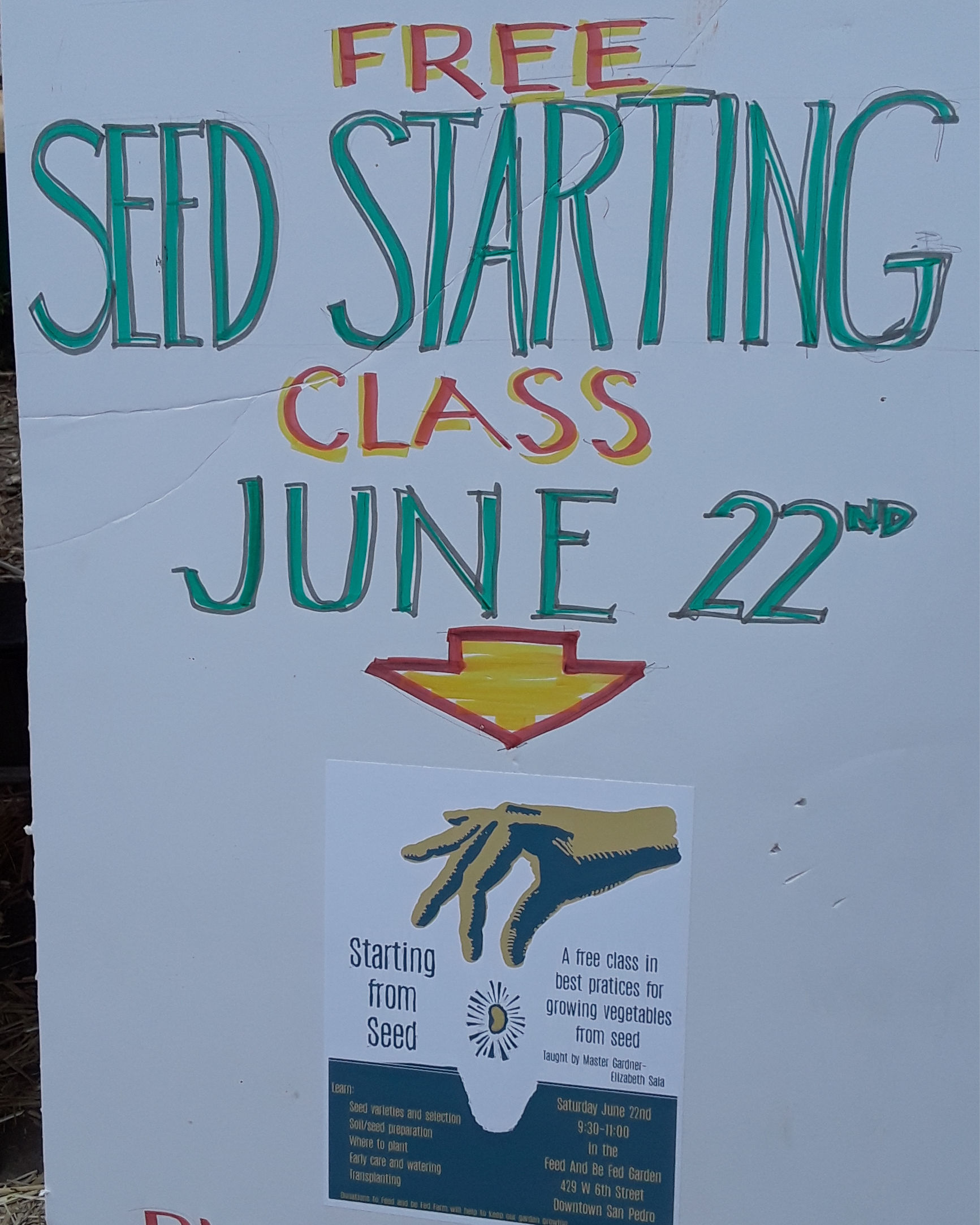 Seed Starting Class-Feed & Be Fed Garden - San Pedro