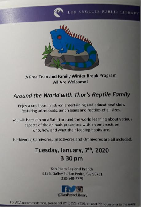 Library Reptile Program