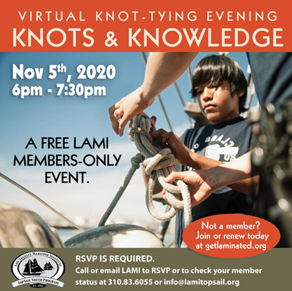 Los Angeles Maritime Institute Virtual Knot Tying Event