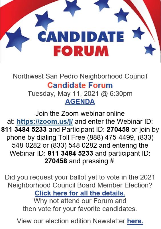 Northwest Neighborhood Council Candidate Forum