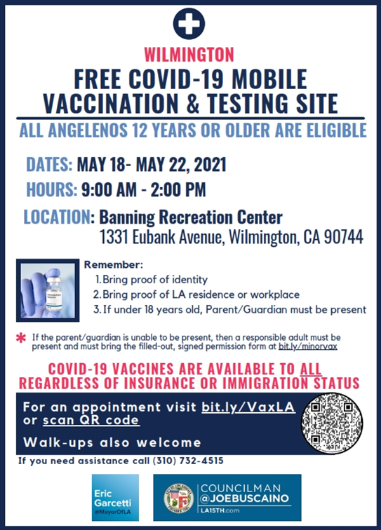 Vaccination Testing Site 5 18-22 21