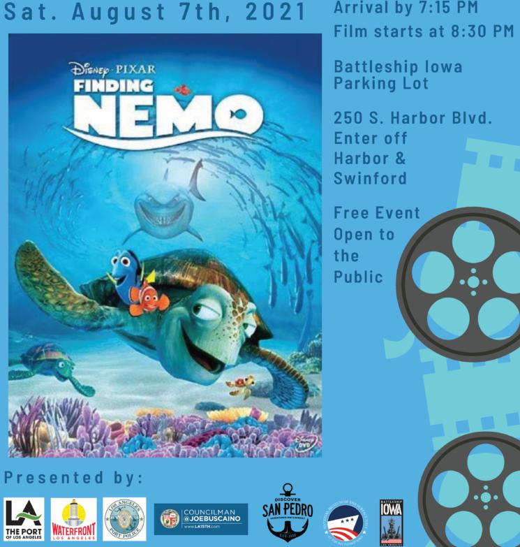 Finding Nemo Aug 7th at the Battleship Iowa